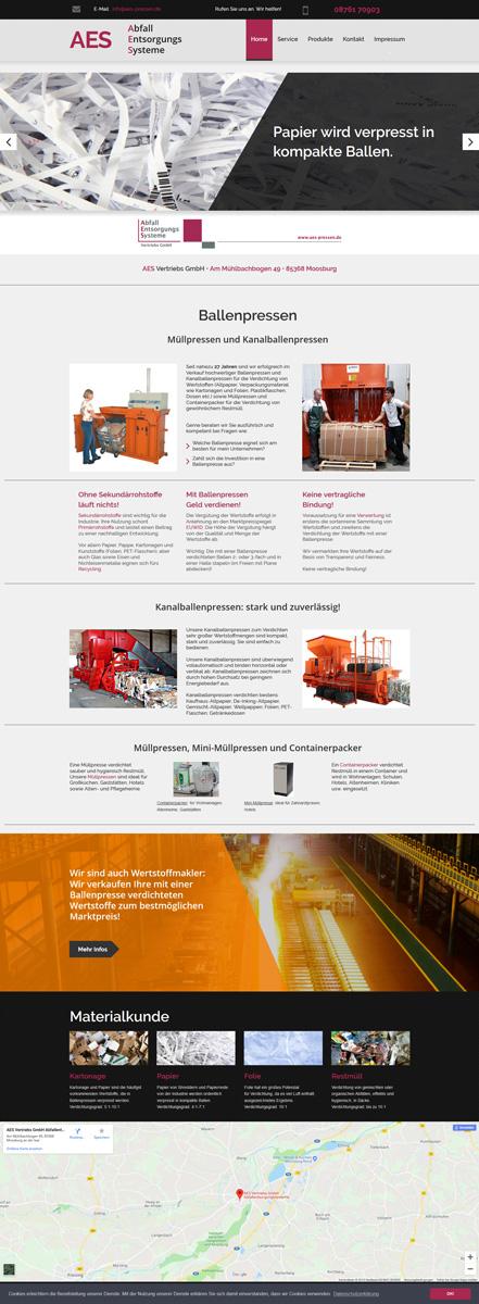 Website AES Vertriebs GmbH