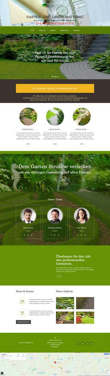 Demosite Garten- und Landschaftsbau